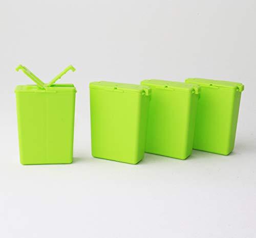 Tupperware to Go 4X Würzling 25ml grün C72 Salzstreuer Pfeffer/Salz Streuer + Geschenk Zahnbürstenschutz