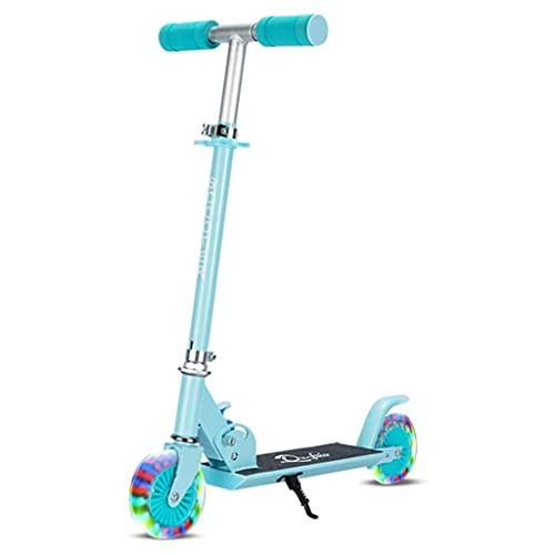 Patinete freestyle Kick Scooter para Togders, 220 lbs Capacidad Ruedas grandes, manillar ajustable de altura, sistema de frenos inteligentes, scooter de cercanías plegables para niños ( Color : A )