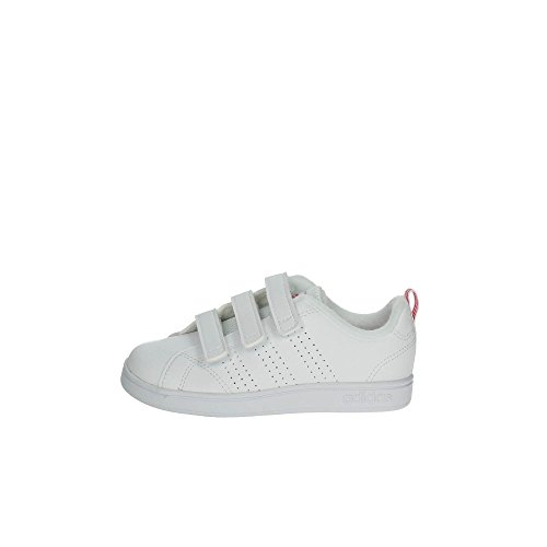 adidas Vs ADV Cl CMF C, Zapatillas de Deporte Unisex niños, Blanco (Ftwbla/Ftwbla/Supros), 33 EU