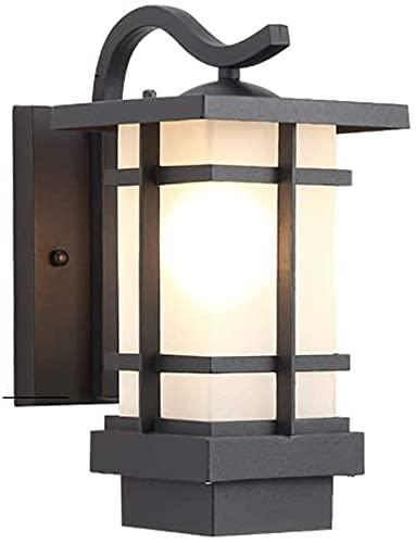 Poste luces al aire libre americano antiguo al aire libre al aire libre lámpara de pared lámpara de vidrio de alta luz transmisión al aire libre poste de la pared luz terraza balcón garaje uno-luz ext