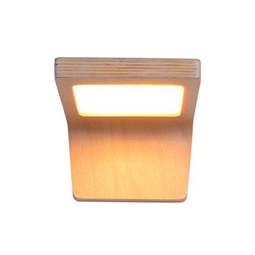 ZWL Lampes de chevet LED, Lampe murale en bois massif créative japonaise Salon Couloir Lampes murales Chambre Balcon Balcons Lumières Lumière chaude de 21 * 14 * 10cm mode ( taille : 21*14*10cm )