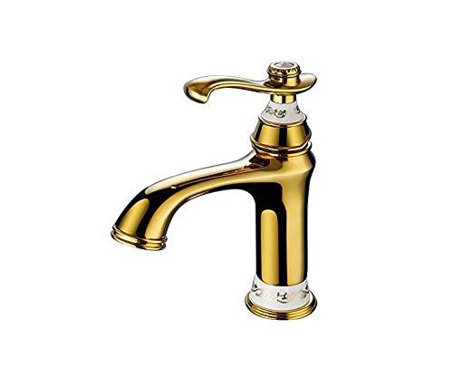Basin kraan Retro Fauceteuropean antieke bekken warm en koud tik goud enkele gat koper bakken Lak badkamer bank wastafel kraan