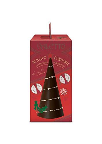 VIALETTO Albero Fondente   Albero di Natale al Cioccolato Fondente   Decorato a Mano   Confezione da 350 grammi