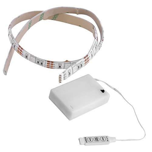 Ba30DEllylelly Luz de tira LED RGB de 50 CM con pilas de 4,5 V, luz de afición artesanal impermeable con caja de batería