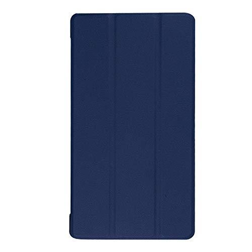 Adecuado para Lenovo Tab 7 Funda para Tablet PC Essential TB-7304F Soporte de Plegado Triple Funda de Cuero de 7 Pulgadas-Azul_Lenovo / Lenovo