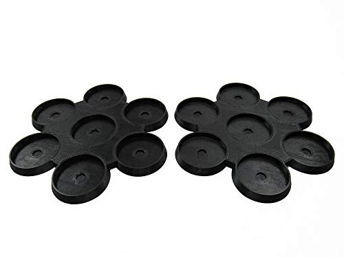 EnderToys 32mm 7-Man Move Trays (x2), Bits and Accessories for Tabletop Wargame Miniatures, 3D Printed and Paintable