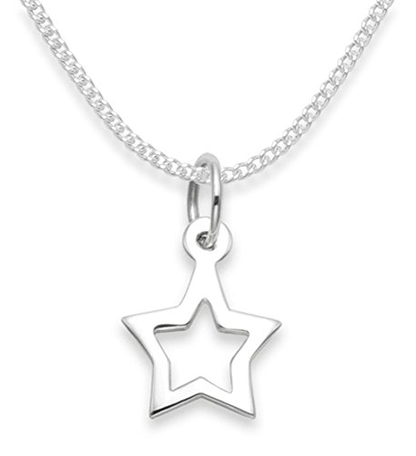 Heather Needham Sterling Silver Star Necklace on 16' Silver chain - SIZE: 10mm X 11mm Gift Boxed 8101/16