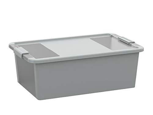 Kiss Kis Aufbewahrungsbox Bi Box 26 Liter in grau-transparent, Plastik, 55x35x19 cm