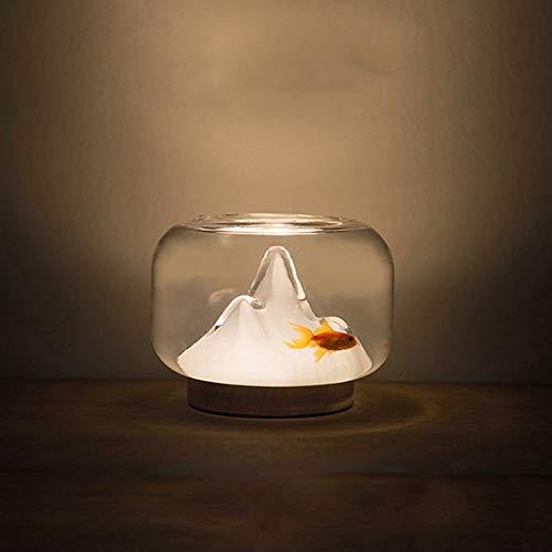 SHENLIJUAN Fish Tank Noche de la lámpara de Carga USB Escritorio de la Tabla Dormitorio de Noche Hecho a Mano de Cristal Caliente Llevado Luces Fun Literatura y Arte