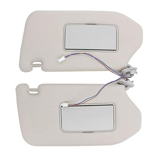 NewYall Pack of 2 Front Left Driver and Right Passenger Side Sun Visor Sunvisor with Lamp