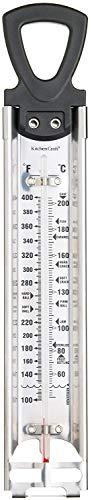 Zucker-Thermometer zum Kochen von Süßigkeiten oder Marmelade, Frittieren und allgemeine Küche, Edelstahl, 30,5 cm