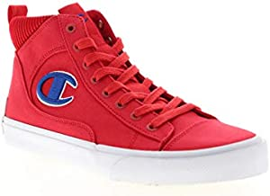 Champion Mens Fringe HI Red High Top Sneakers Shoes (Red, 13)