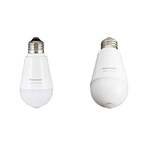 【セット買い】パナソニック LED電球 E26口金 電球40形相当 電球色相当(5.0W) 一般電球・人感センサー LDA5LGKUNS & LED電球 E26口金 電球60形相当 電球色相当(7.8W) 一般電球・人感センサー LDA8LGKUNS