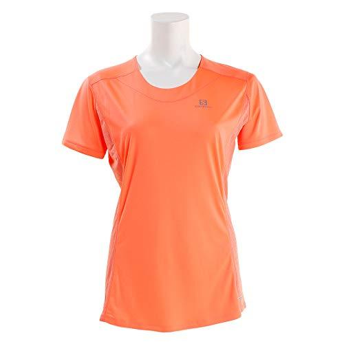 Salomon Femme T-shirt de Sport à Manches Courtes Agile, Mélange Synthétique, Corail, XS