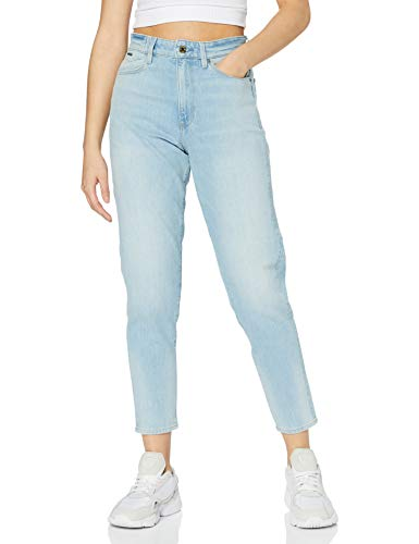 G-STAR RAW Womens Janeh Ultra High Wasit Mom Ankle Straight Jeans, Vintage Glacial Blue C529-C004, 28W / 30L