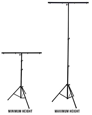 Harmony Audio HA-TBARSTAND Pro Audio DJ Lighting Tripod & T-Bar Light Stand from Harmony Audio