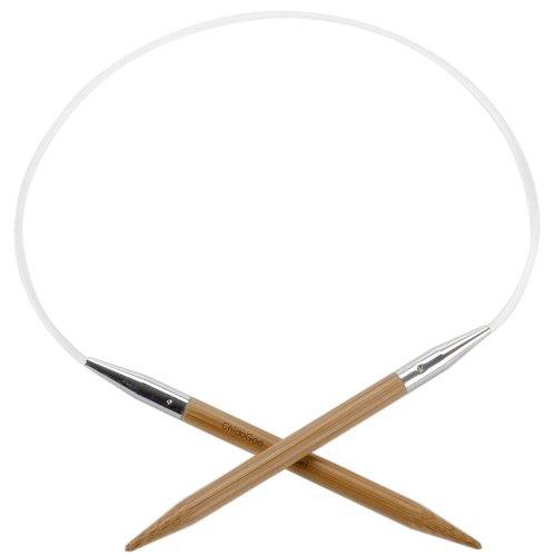 ChiaoGoo Circular 16 inch (41cm) Bamboo Dark Patina Knitting Needle Size US 9 (5.5mm) 2016-9