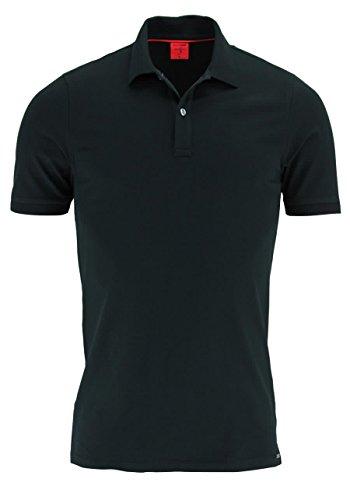 Olymp Poloshirt schwarz, Einfarbig 96% Baumwolle / 4% XLA ohne Brusttasche, Größe L