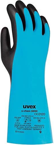 uvex u-Chem 3200 Schutzhandschuhe gegen chemische Risiken nach EN 388 - Wasserdicht - Gr. 8