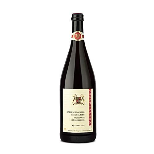 Württemberger Wein Haberschlachter Heuchelberg Trollinger mit Lemberger QbA halbtrocken (1 x 1 l)