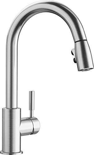 BLANCO 441647 Single-Handle Pull-Down Sprayer Kitchen Faucet, 2.2 GPM, Stainless Sonoma