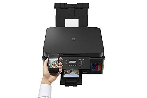 Canon PIXMA G6050 MegaTank Drucker nachfüllbares Tintenstrahl Multifunktionsgerät DIN A4 (Scanner, Kopierer, WLAN, LAN, Duplexdruck, große Tintentanks, hohe Reichweite, niedrige Seitenkosten), schwarz