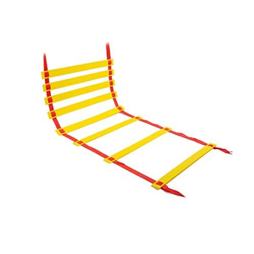 CPY Escalera de velocidad, entrenamiento de velocidad y agilidad – Escalera de agilidad con peldaños de plástico resistente, entrenamiento cónico para fútbol, tenis y béisbol