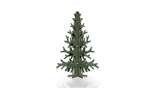 Oedim Árbol Navidad Cartón | 97x150cm | Producto Especial Navidad | Diseño Verde | Nido de Abeja Blanco 10mm