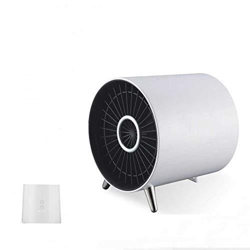 KHFE Calefactor Ventilador Calentador Estándar Europeo 220V, Cerámico Caliente Ventilad Calentador Doméstico, Mini Calentador De Escritorio De Oficina, Blanco