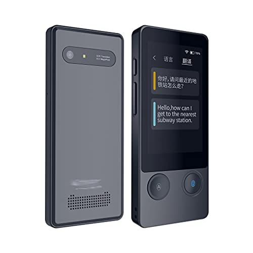 UXZDX CUJUX Two-Way Language Voice Translator Multi-Functional Translation Device with 3.1 inch Touchscreen 51 Languages Real Time Instant
