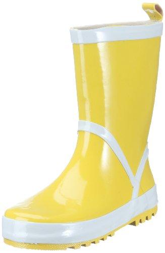Playshoes Kinder Gummistiefel aus Naturkautschuk, trendige Unisex Regenstiefel mit Reflektoren, Gelb (gelb 12), 30/31