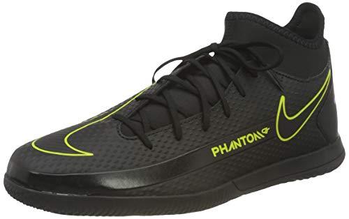 Nike Herren Phantom GT Club DF IC Football Shoe, Black/Black-Cyber-Light Photo Blue, 44.5 EU