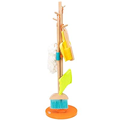 Fat Brain Toys Cleaning Set - Sweep, Scrub, and Shine Cleaning Set Imaginative Play for Ages 3 to 4 by Fat Brain Toys