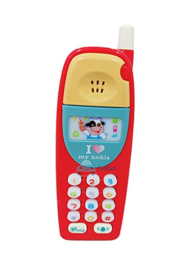 FunBlast Musical Mobile Phone for Kids, Mobile with Light & Sound Toys for Babies | Educational Toys for Kids 3+ Years/Boys/Girls-1 Unit (Random Color)