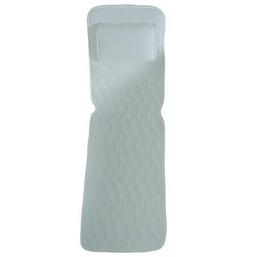 Fltaheroo Cojín antideslizante para bañera de hidromasaje, almohadilla de colchón transpirable 3D, gran apoyo para la espalda para adultos