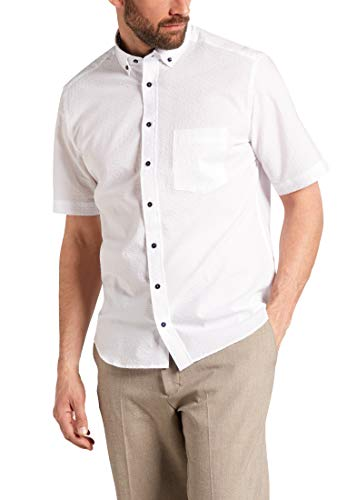 eterna Kurzarm Hemd Modern Fit Seersucker unifarben