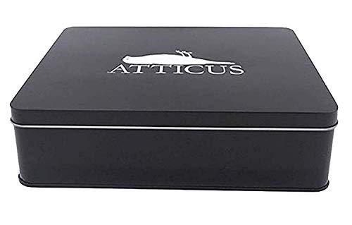 Atticus - Crow Logo Tin Set - Offizielle Herren-T-Shirt + Beanie & CD - Weiß, M