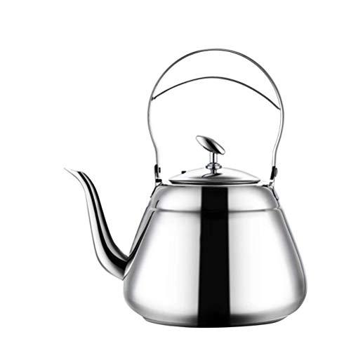 DFJU Fogão Chaleira de Chá Bule Cirúrgico de Aço Inoxidável Polido com Alça e Injetor Resistente ao Calor, 1.5L Pode Fazer Leite Ou Café Ferver Presente Perfeito