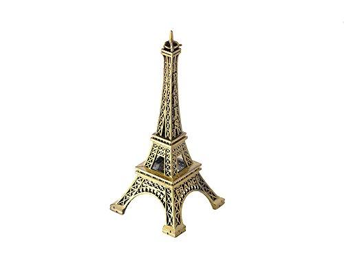 Mini-Eiffelturm-Statue, Metallic-Modell, für Schreibtisch etc., metall, 15 cm