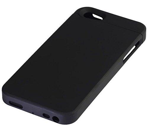 MAXFIELD WIRELESS CHARGING Apple iPhone 5 / 5S Case kabellos laden durch Induktion mit Qi-Standard NEU black