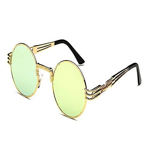 TWDYC Occhiali da Suela, Occhiali da Suela da uomo e da Donna personalizzati Occhiali da Suela Alla Moda Occhiali da Suela da Donna con montatura rotonda - Lente Amarilla Equitación al Aire Libre