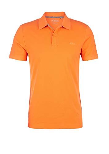 s.Oliver RED Label Herren Poloshirt aus Baumwollpiqué Light orange M