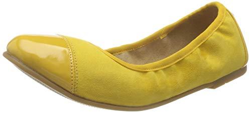 s.Oliver Damen 5-5-22118-24 Geschlossene Ballerinas, Gelb (Yellow Comb. 616), 39 EU