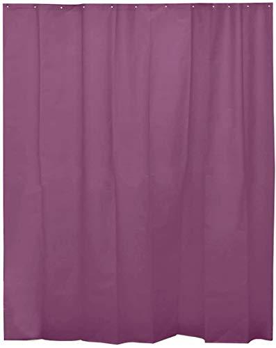 H HANSEL HOME Duschvorhang Violett für Badezimmer mit 12 Ringen, 50prozent Eva-Gummi & 50prozent Polyethylen (180 x 200 cm)