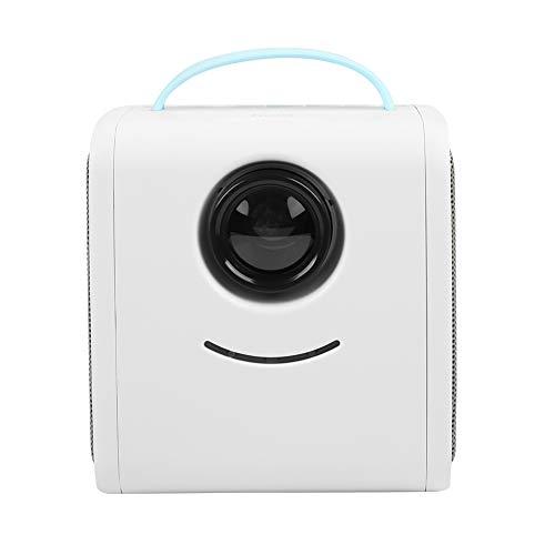 Mini LED Projektor, HD 1080P Augenschutz Cube Würfel Projektor, Portable Heimkino-Videoprojektor Geschenk für Kinder(blau)