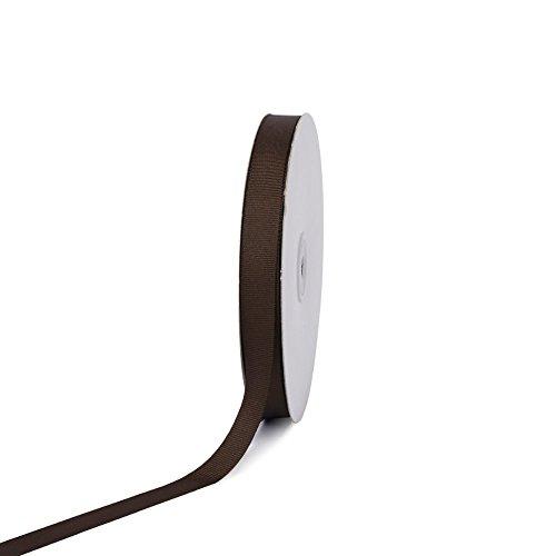 Creative Ideas 50-Yard Solid Grosgrain Ribbon, 5/8-Inch, Brown