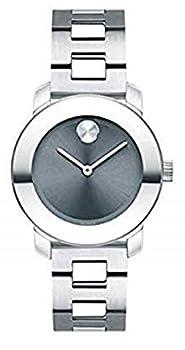 Movado Bold Stainless Steel Case Blue Dial Stainless Steel Bracelet Women 3600436
