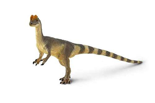 Safari Ltd Wild Safari Colección Prehistoric World - Figura decorativa de dilophosaurio realista pintada a mano, 6 x 3 cm, no tóxica y libre de BPA, a partir de 3 años