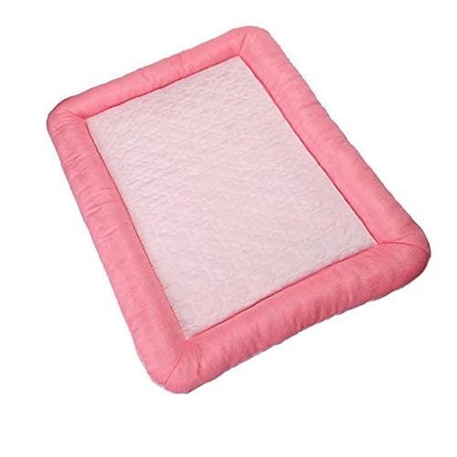 YepYes Perro Estera Fresca de Cama, Mascotas Auto Enfriamiento Mat, admiten Dormir del Verano Colchón Accesorios para Gatos a casa y Viajes Lavable Antideslizante para Pink Verano