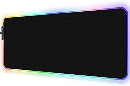 RGB Mouse Pad Gamer - TEKXDD LED Alfombrilla para Mouse con Reposamuñecas XXL 800x300mm,14 Modos Efectos de Luces Alfombrilla Ratón...